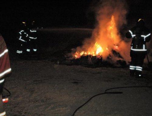 Brand i affald blev forvekslet med gårdbrand